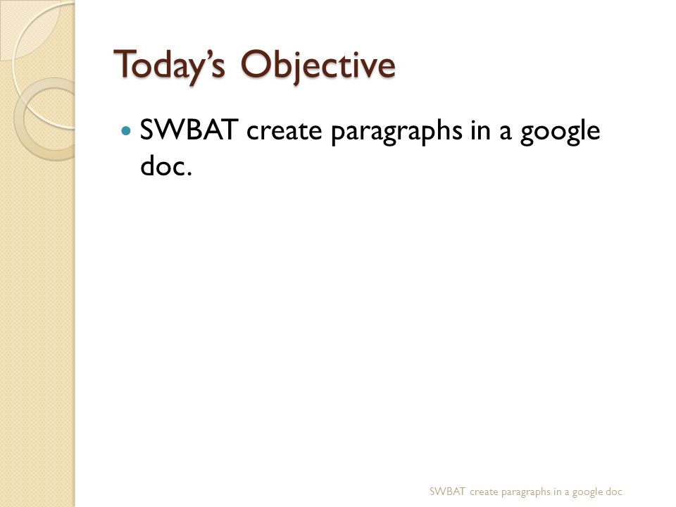 google paragraph writing
