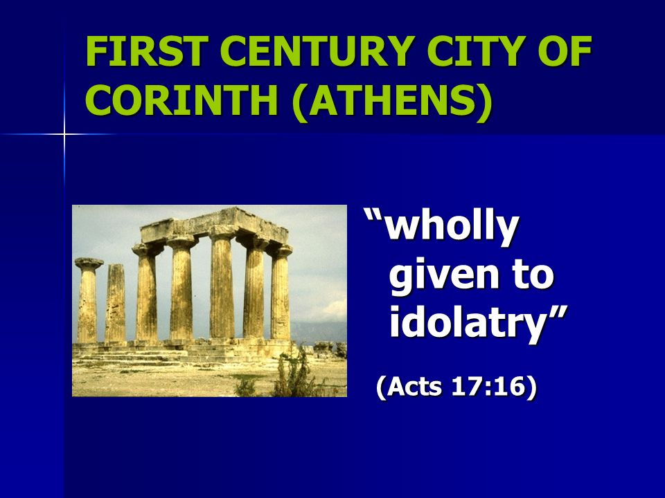 Sexual immorality in ancient corinth