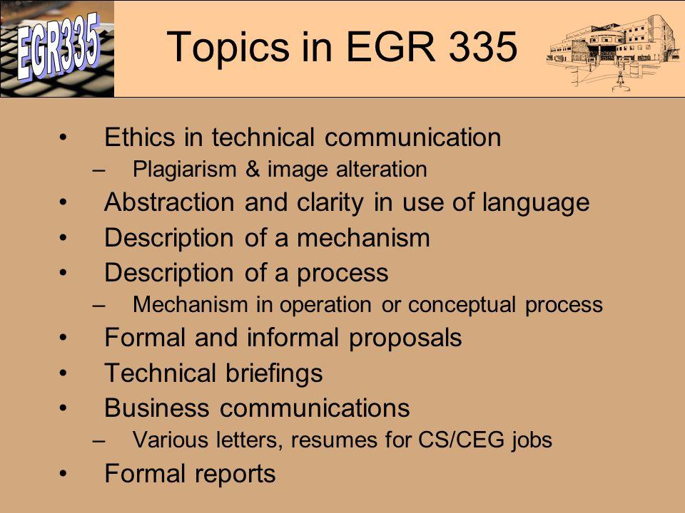 technical description topics