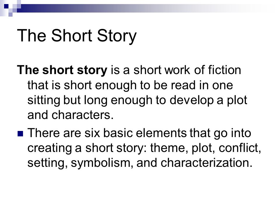 Short Stories A Short Glossary Of Literary Terms Ppt Download