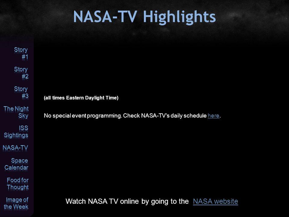 nasa tv schedule - 960×720