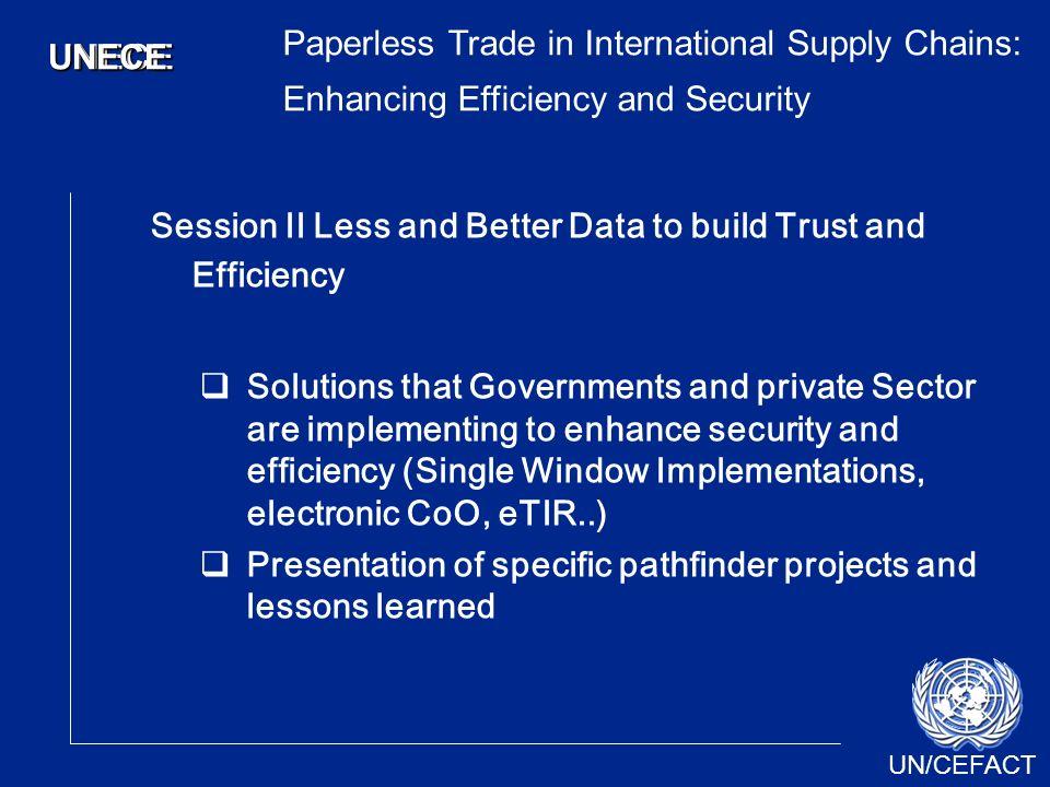 UN/CEFACT UNECEUNECE 3 rd Executive Forum on Trade Facilitation