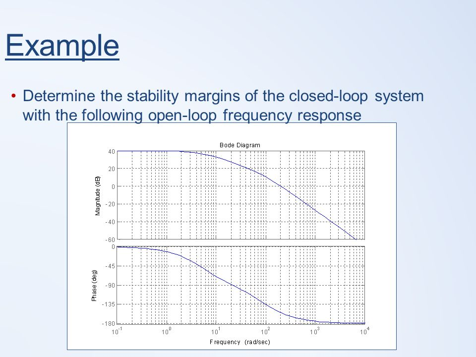 Lecture 22: Frequency Response Analysis (Pt II) 1 Conclusion of Bode