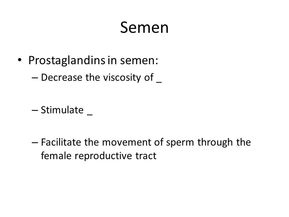 Think, that prostaglandins in sperm you have