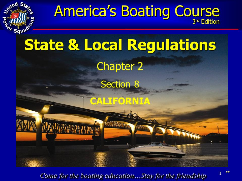 Come for the boating education…Stay for the friendship