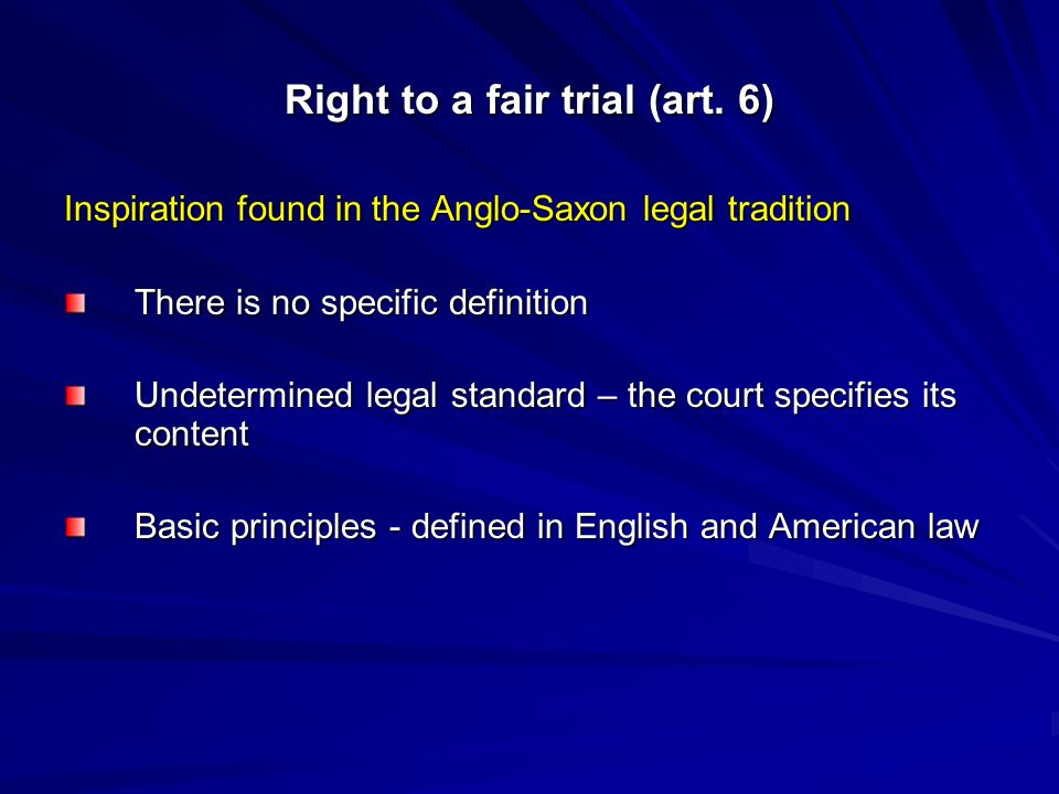 RIGHT TO A FAIR TRIAL (Article 6 of the ECHR) Elizabeta
