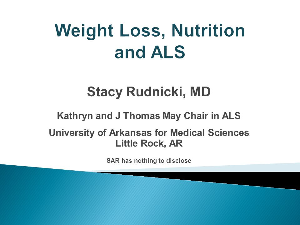 Stacy Rudnicki Md Kathryn And J Thomas May Chair In Als University