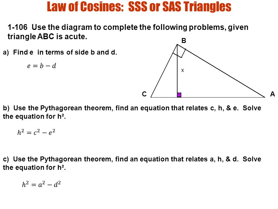 sas triangle diagram wiring schematic diagramsection law of cosines law of cosines sss or sas triangles use the sas geometry law