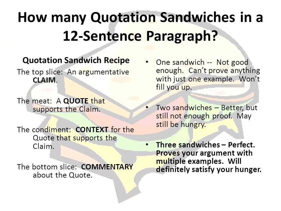 Paragraph as sandwich the upper school model for paragraph writing how many quotation sandwiches in a 12 sentence paragraph ccuart Image collections