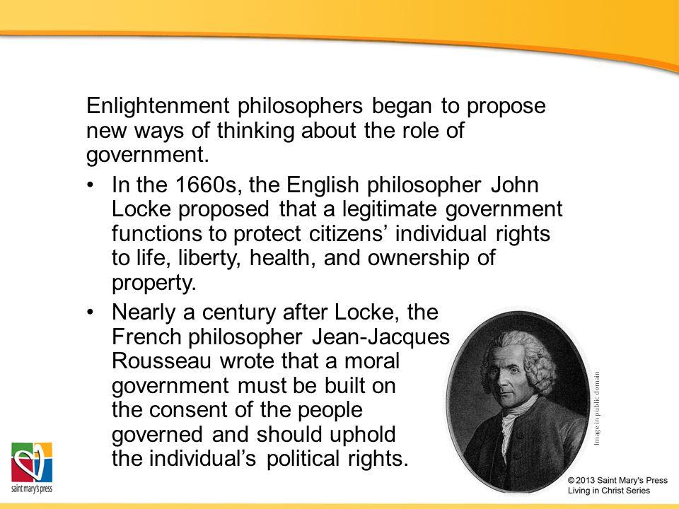 role of john locke in french revolution