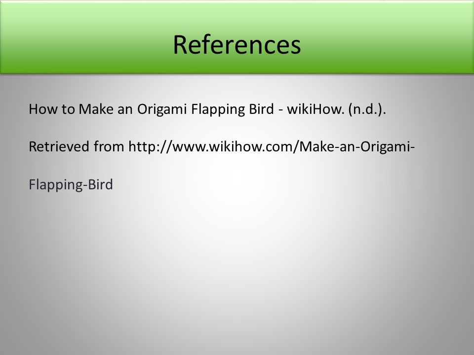 How to Make an Origami Flapping Bird - wikiHow | 720x960