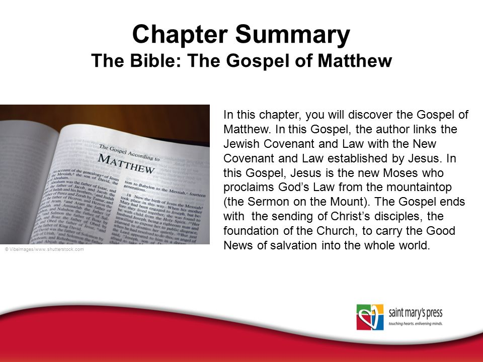 a short summary of the gospels The gospel of matthew a chapter by chapter analysis 13 lessons for a sunday school quarter  the files are in pdf format the student is also referred to supplemental material which will help in studying these chapters in matthew.