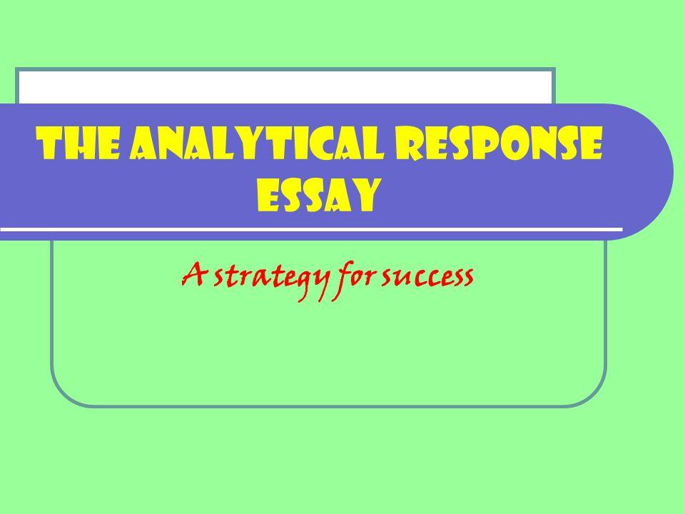 analytical response paper