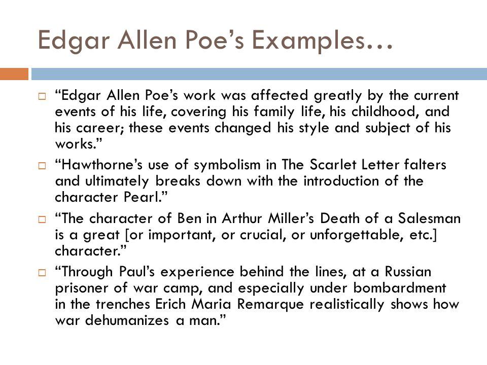 Edgar allan poe thesis statements esl cv proofreading sites