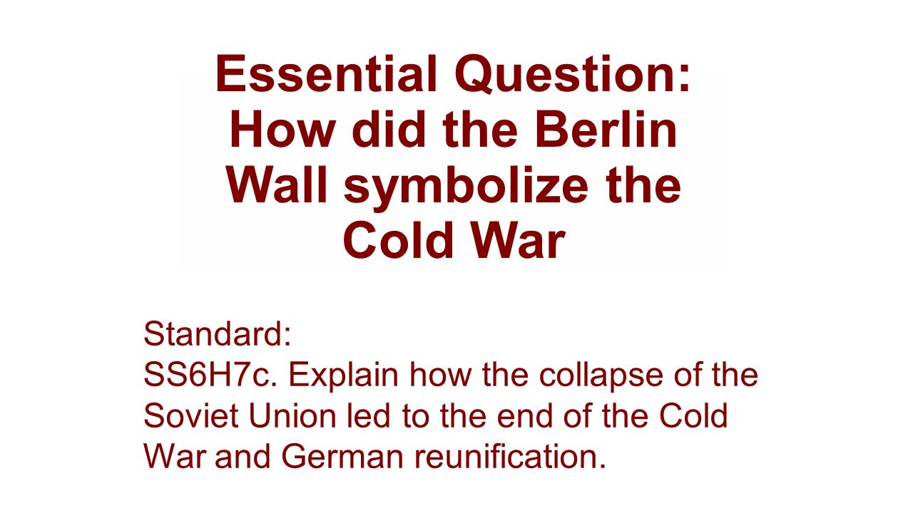 why did the cold war end peacefully Sec 4 chapter 41 the end of cold war 1 chapter 4 the end ofchapter 4 the end of the cold warthe cold war why did the cold warwhy did the cold war endend 2 was the collapse due to force nowas the collapse due to force no the cold war cost more thanthe cold.