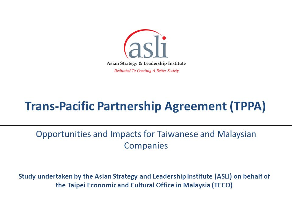 Trans Pacific Partnership Agreement Tppa Opportunities And Impacts