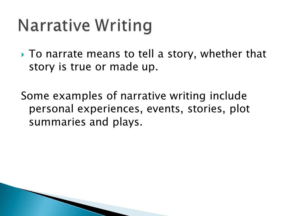 Narrative essays.