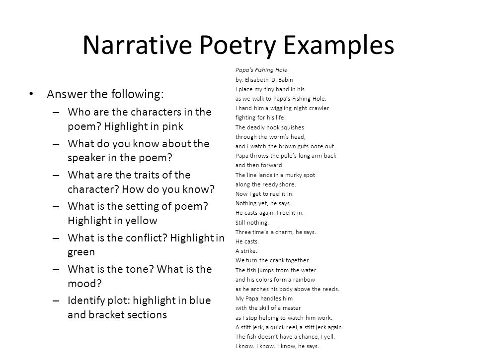 narrative poetry telling stories through poems. what is narrative