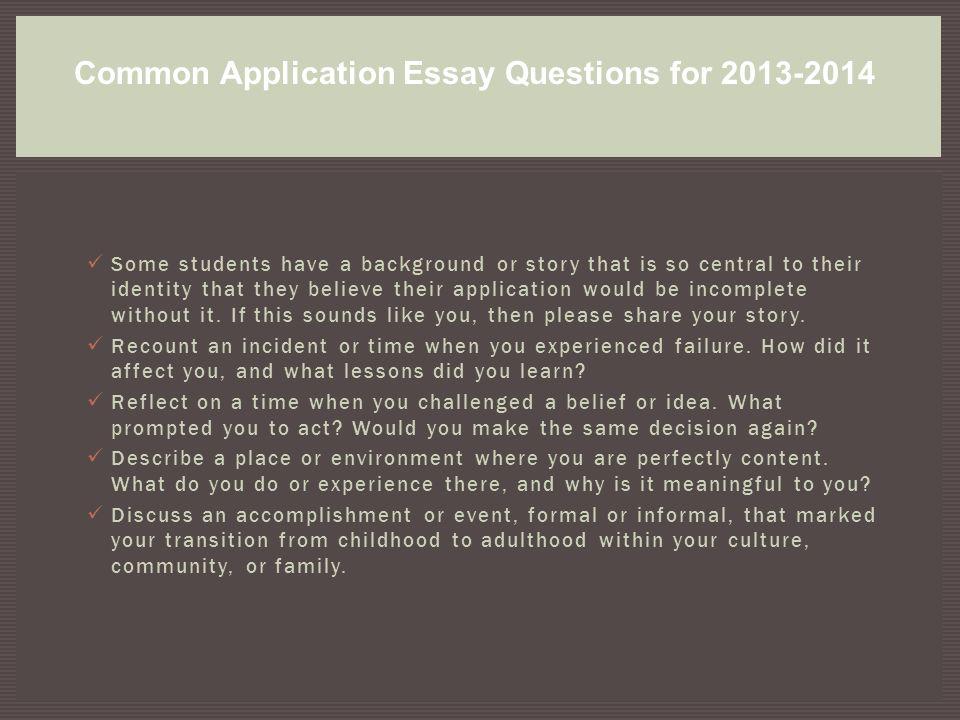 college essay 2014