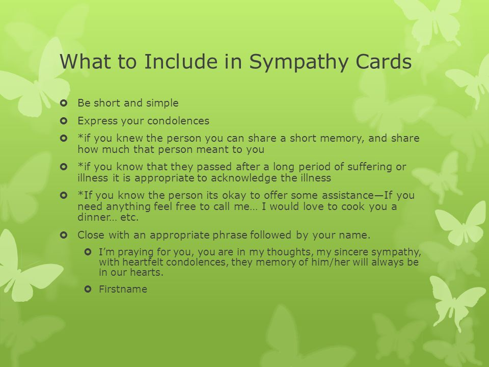 sympathy cards and thank you notes what to include in sympathy