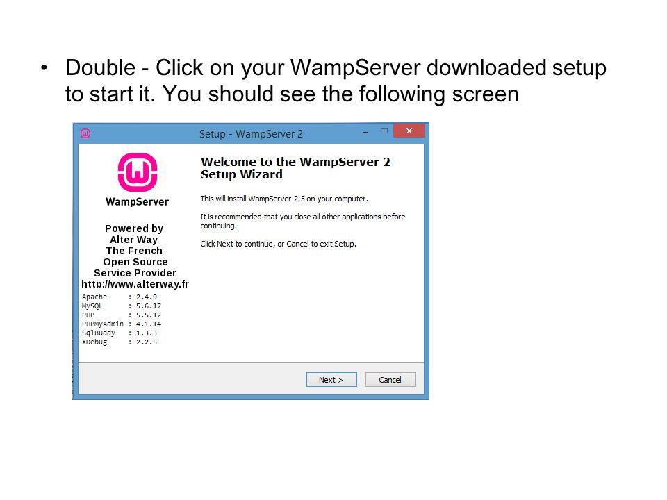 wamp server 2 5