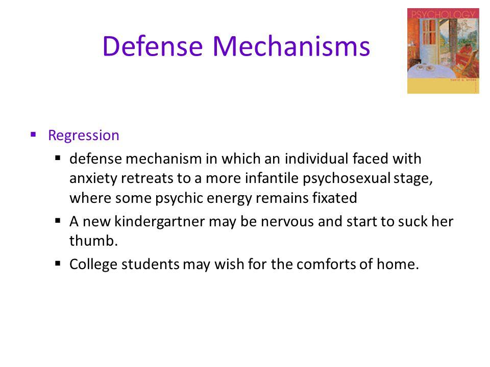 example of regression defense mechanism