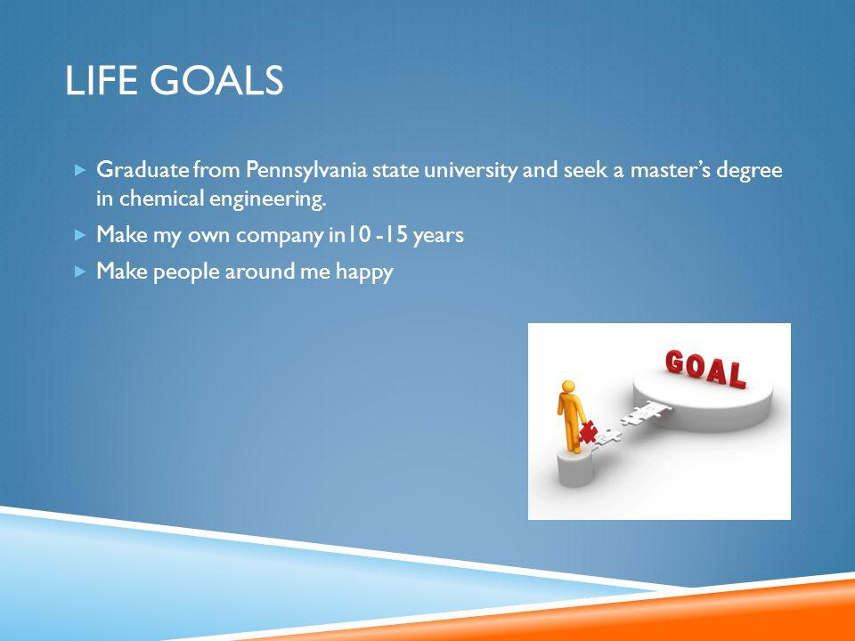 life goals university