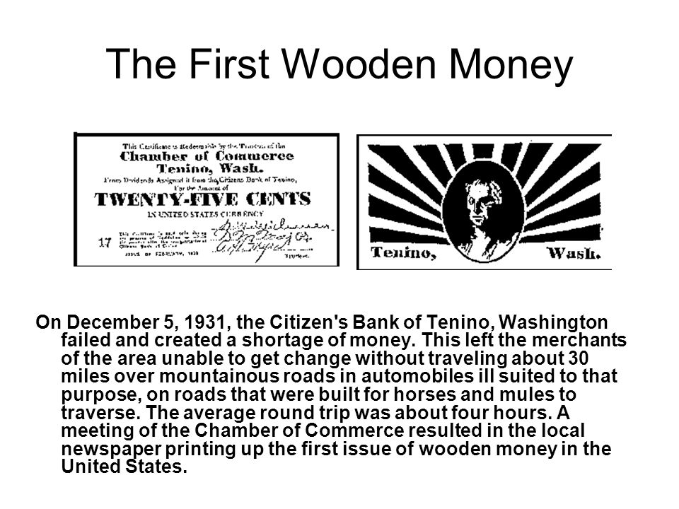 A Brief History Of Wooden Nickels A Presentation By Kenneth Swab To