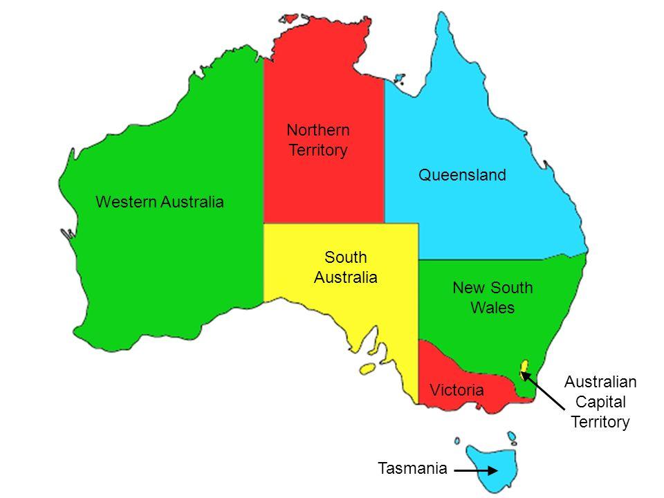 western australia northern territory south australia queensland new