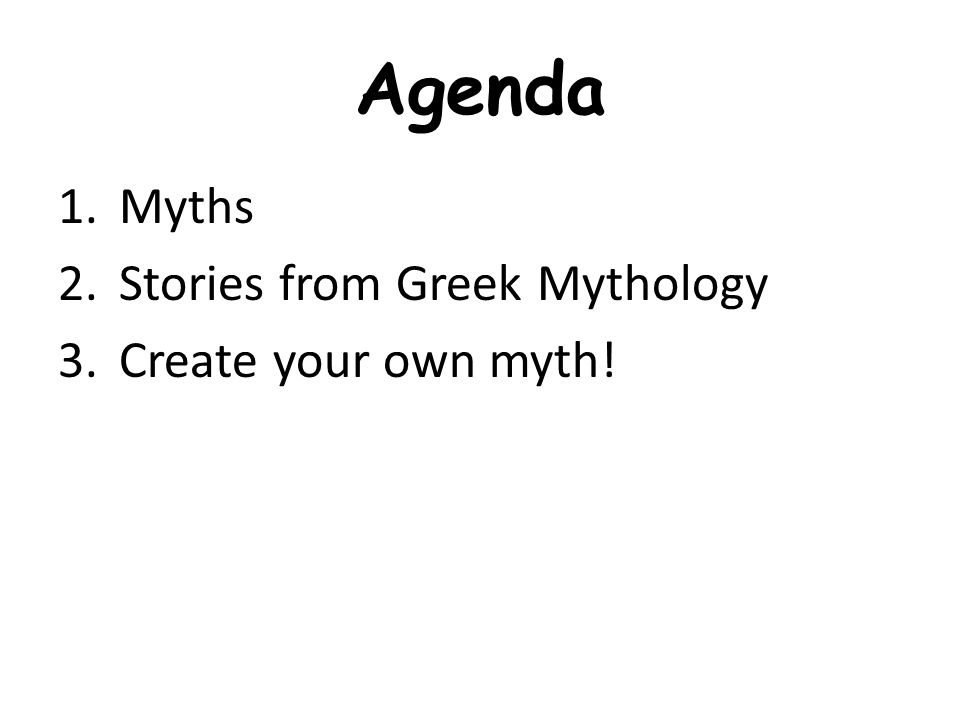 bellringer if myths aren t real why do we study them in history