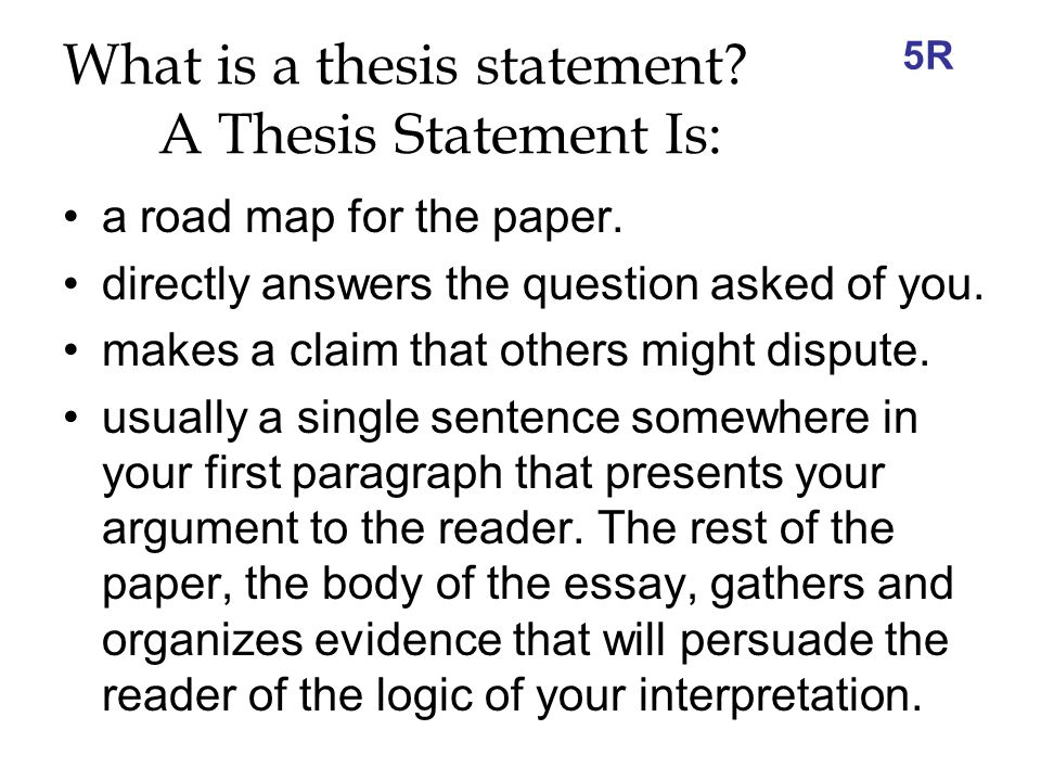 thesis writing what is a thesis statement what are the  what is a thesis statement a thesis statement is a road map for the
