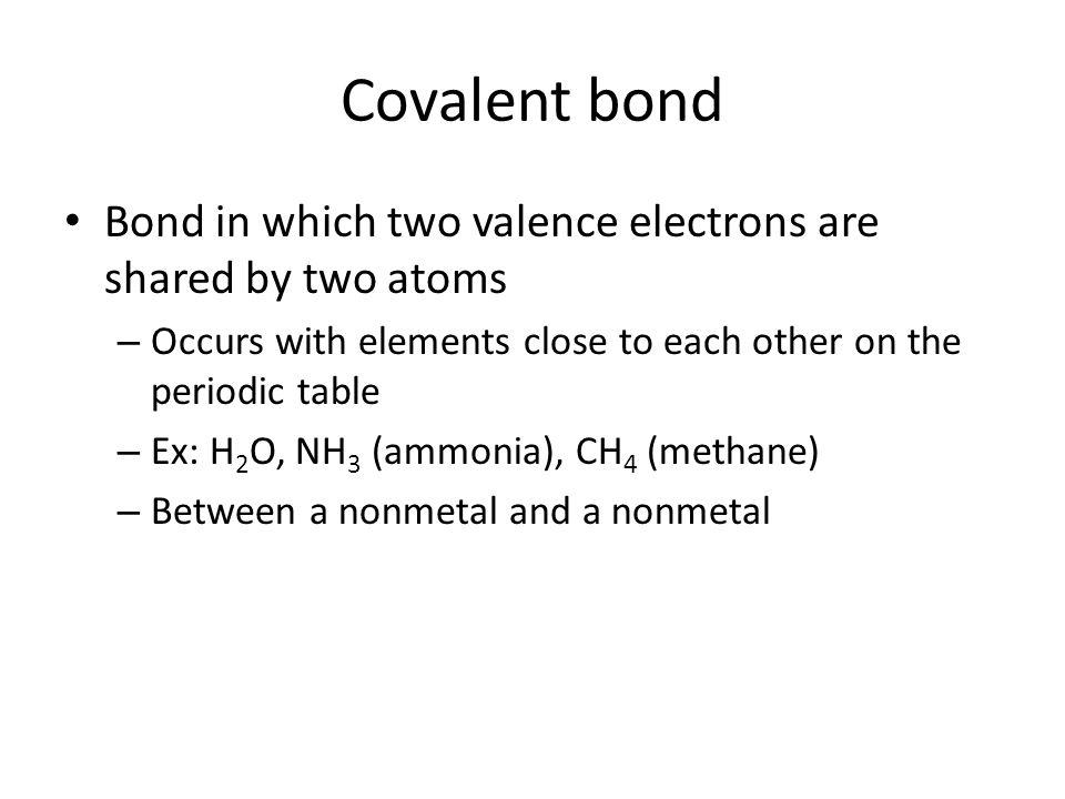 Covalent Bonds Review Reactivity Electron Configuration