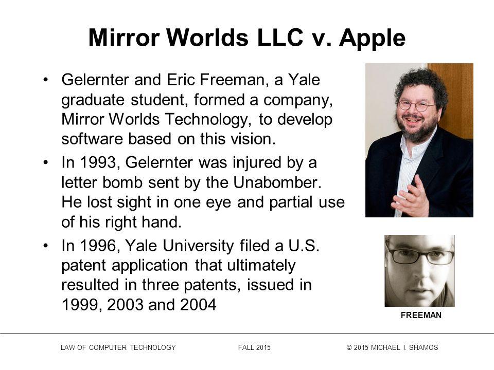 Law Of Computer Technology Fall 2015 2015 Michael I Shamos