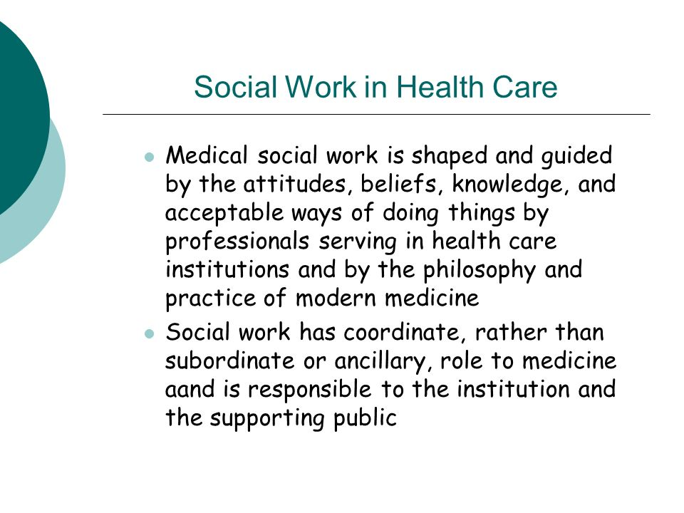 Introduction To Social Work Health Care Chapter 10 Adapted From