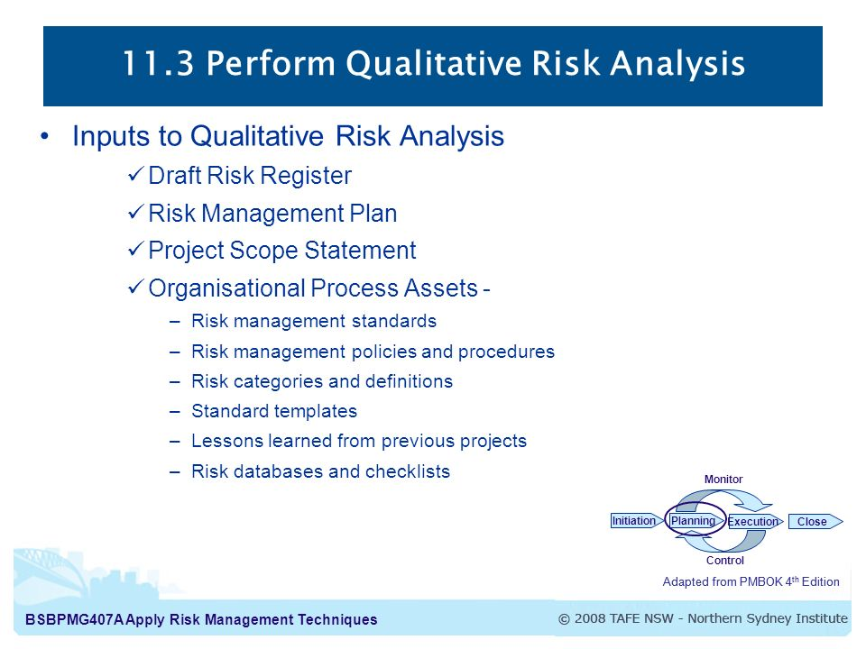implementation of a risk management project Risk management is concerned with identifying risks which may affect the project and planning to ensure that these risks do not develop into major threats project scheduling involves preparing various graphical representations showing project activities their durations and staffing 7th edition.