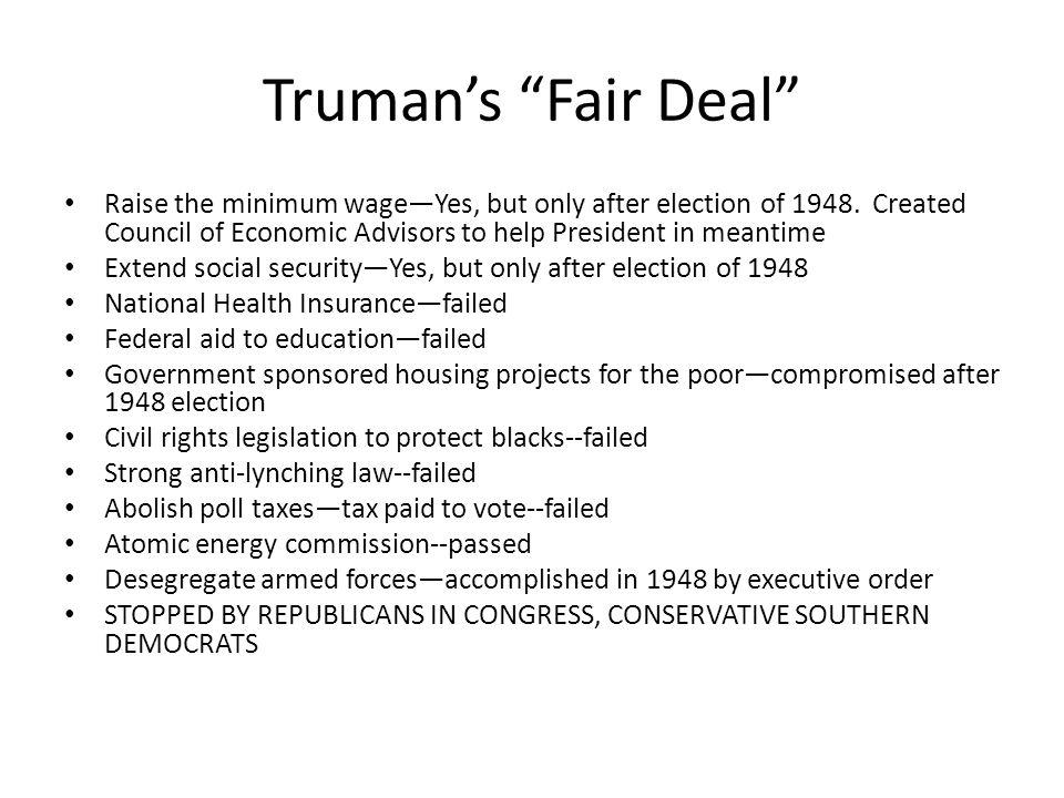 truman fair deal