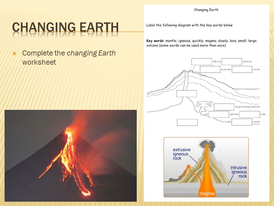 Printable Worksheets igneous rocks worksheets To know how igneous rocks are formed Volcanos What do you think ...