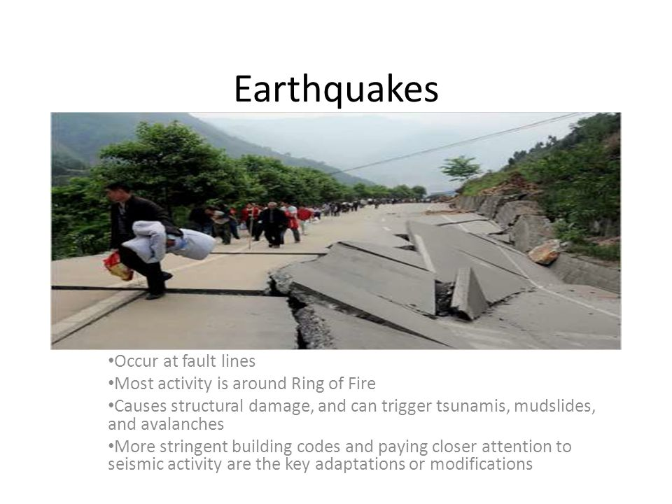 Earthquakes Occur At Fault Lines Most Activity Is Around