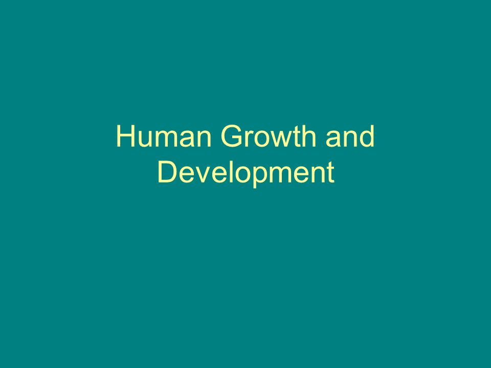 5 stages of human growth