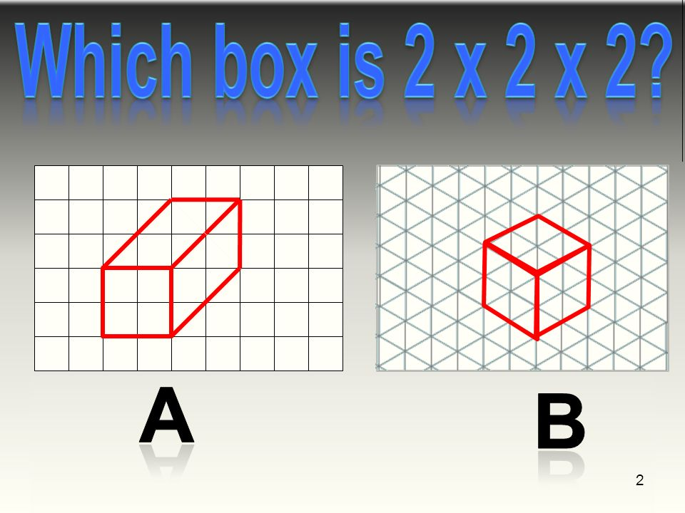 Design Process 1 2 Objective Identify Box Shapes On Isometric