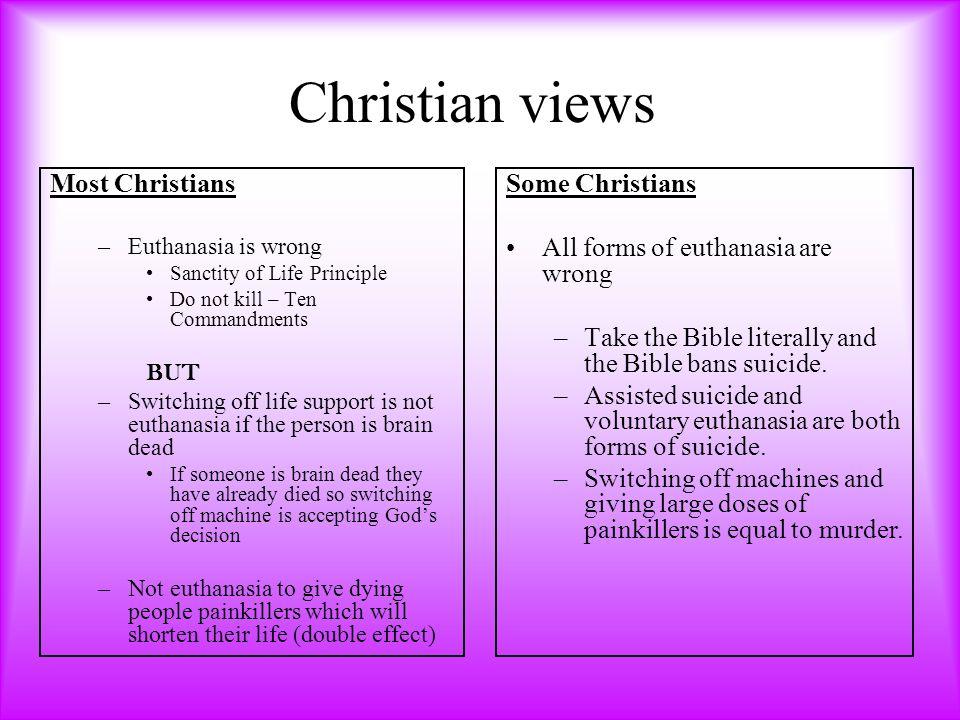 christian view on euthanasia