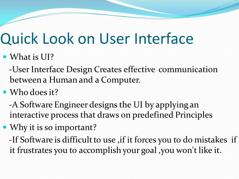 Chapter 5 User Interface Design Concepts Of Ui Interface Model Internal An External Design Evaluation Interaction Information Display Software Ppt Download