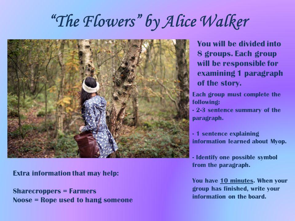 the flowers by alice walker theme