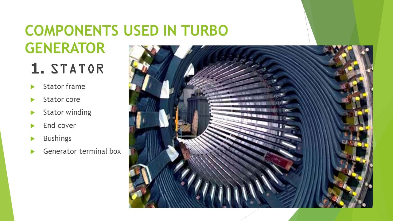 COMPONENTS USED IN TURBO GENERATOR 1.