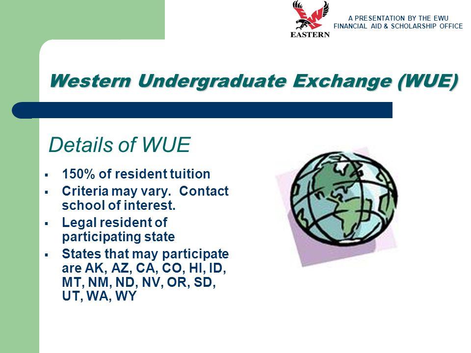 Ewu Financial Aid >> Financial Aid Investing In Your Future A Presentation By The Ewu