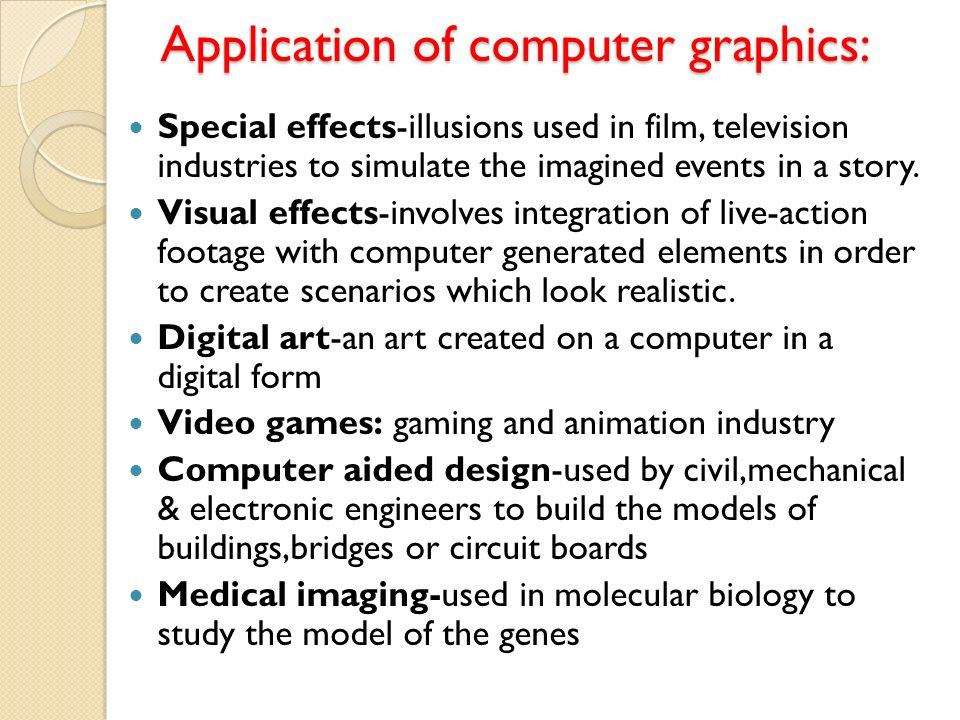 COMPUTER GRAPHICS  CONTENTS: Introduction to Image and Objects