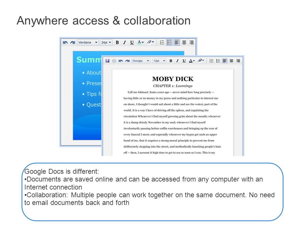 Google Docs An Overview for Educators  Google Docs Google Docs is a