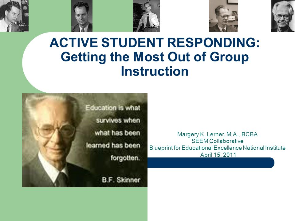 Active student responding getting the most out of group instruction active student responding getting the most out of group instruction margery k malvernweather Choice Image