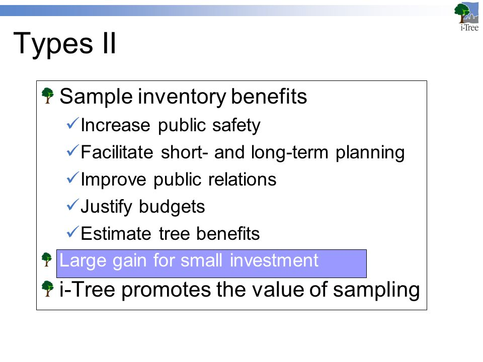 tree inventories and sampling overview inventories inventories in i