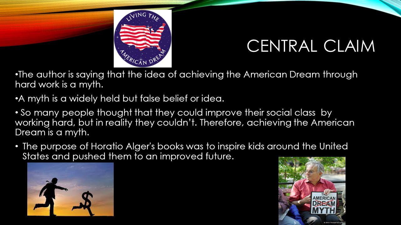 horatio alger american dream